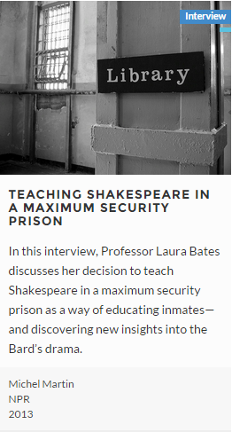 Teaching Shakespeare in a Maximum Security Prison