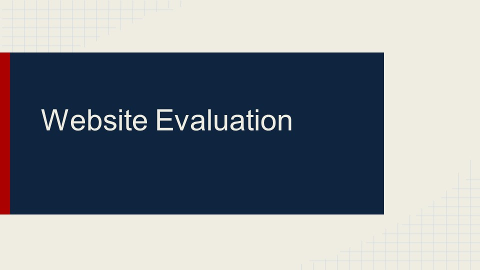 evaluating a website for credibility essay