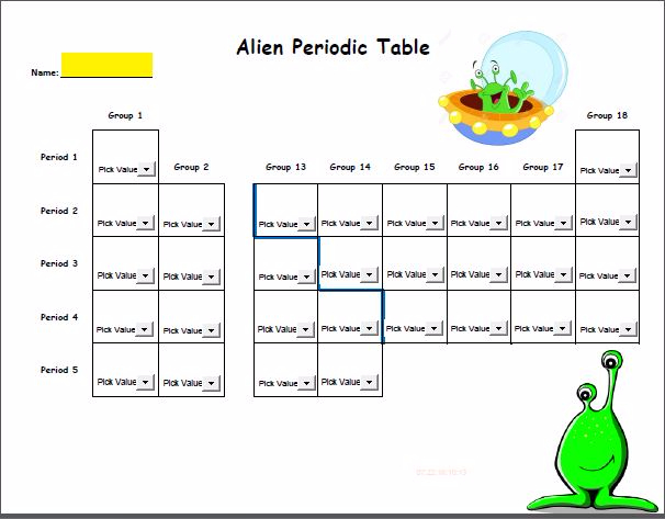 Alien periodic table adobe reader fillable urtaz Gallery