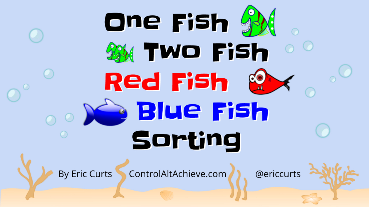 One fish two fish red fish blue fish google slides for One fish two fish red fish blue fish activities