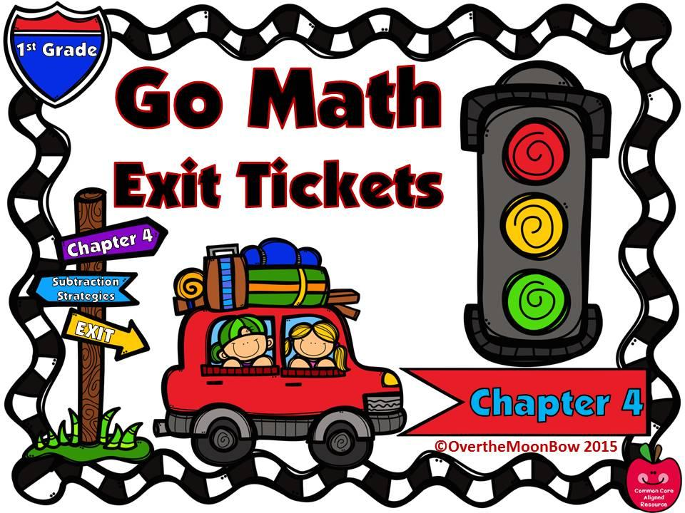 Go Math 1st Grade Exit Tickets Chapter 4 Subtraction Strategies