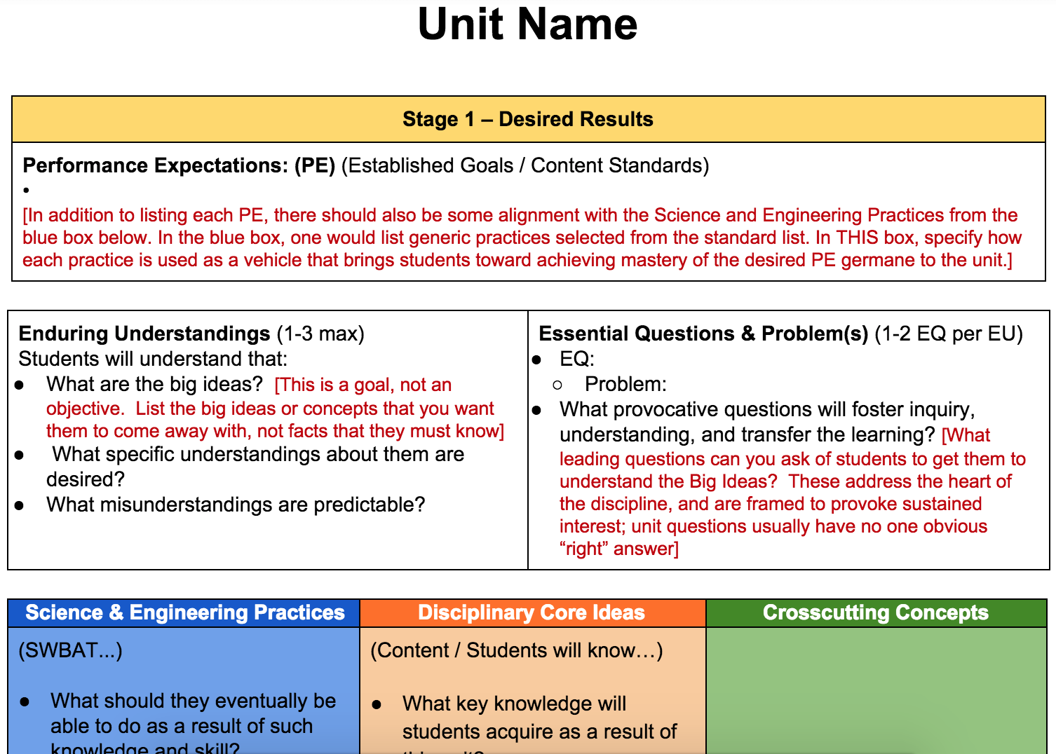 NGSS UbD Unit Planing Template (BTANJ)