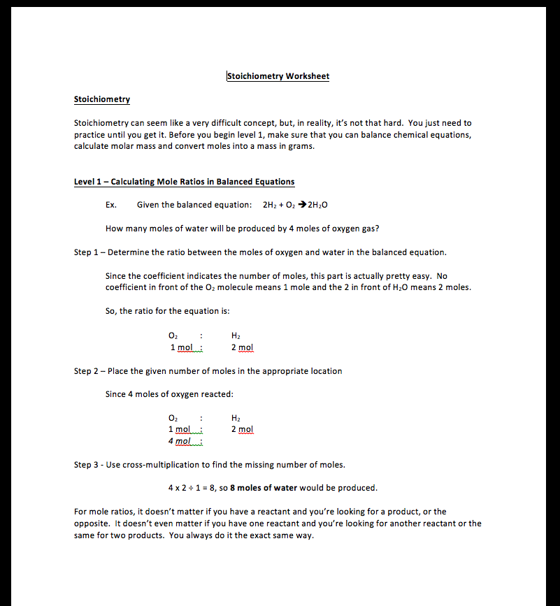 stoichiometry worksheet mole mole answers free worksheets library download and print. Black Bedroom Furniture Sets. Home Design Ideas