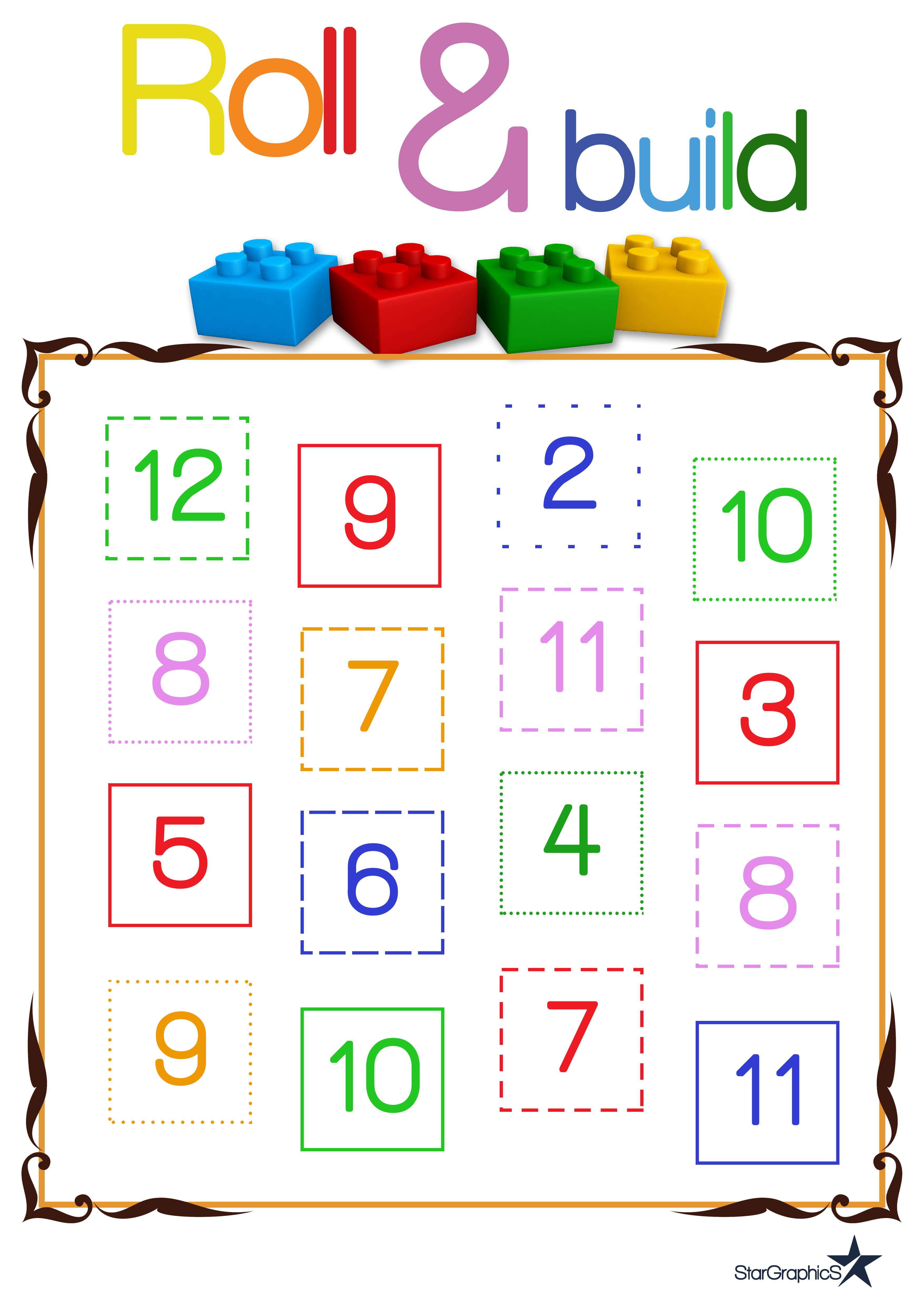 Ordering Numbers - Least to Greatest Bundle + Roll and Build Game