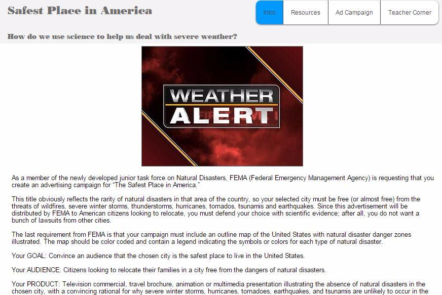 Severe Weathernatural Disasters Project Safest Place In America