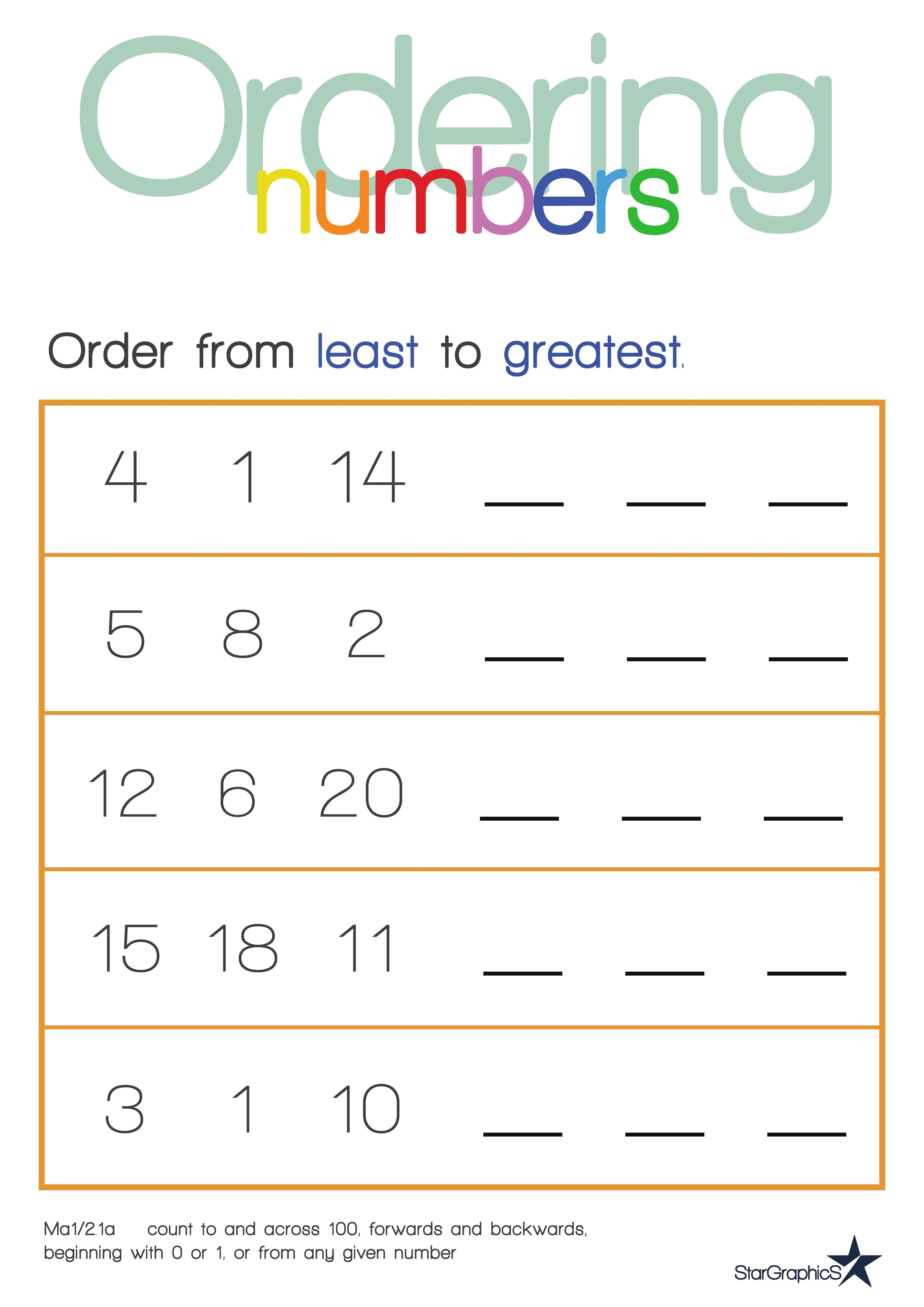 Ordering Fractions And Decimals From Least To Greatest Worksheet – Worksheet on Ordering Fractions