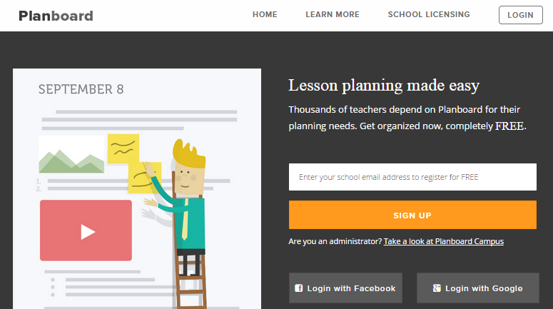 planboard free online lesson planner