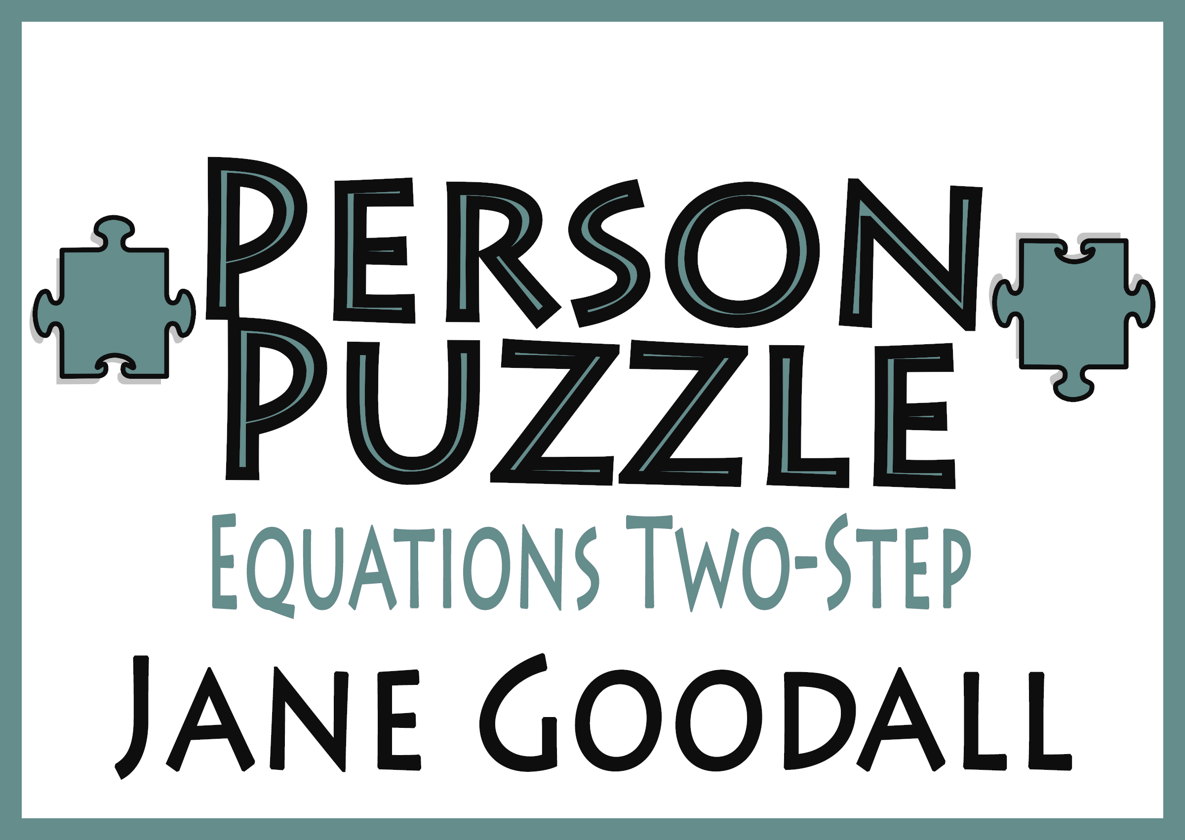 worksheet Equations Puzzle Worksheet person puzzle equations two step jane goodall worksheet