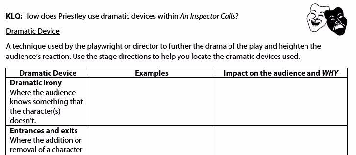an analysis of the bitter dramatic irony in the play an inspectors calls