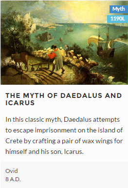 the myth of daedalus and icarus essay The myth states that daedalus, icarus' father, was hired by king minos to build a complex labyrinx in which to hold prisoners upon completion of the job, the king refused to allow daedalus and his son, icarus, to return home.