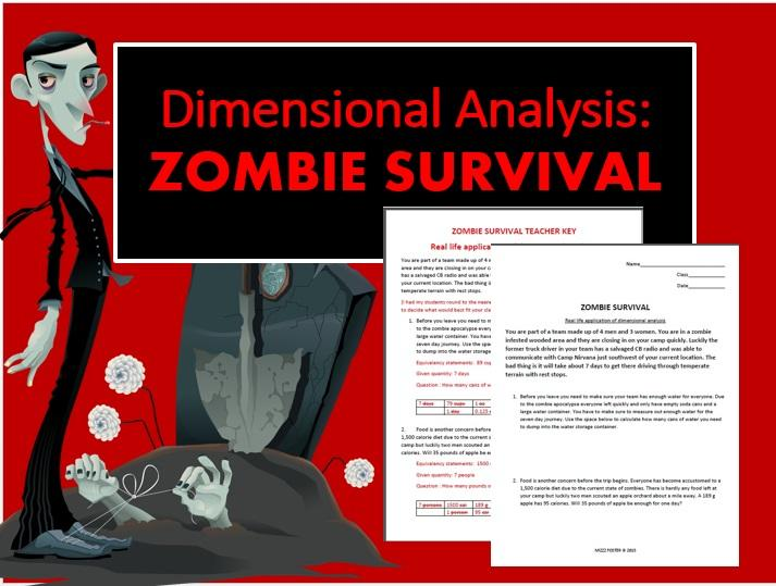 dimensional analysis zombie survival cooperative activity. Black Bedroom Furniture Sets. Home Design Ideas